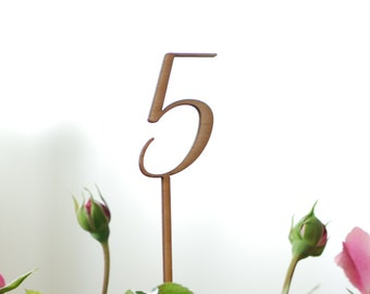Table numbers, Wedding table numbers, Blank table numbers, DIY party, Rustic wedding decor, Lasercut wood numbers, TN-5