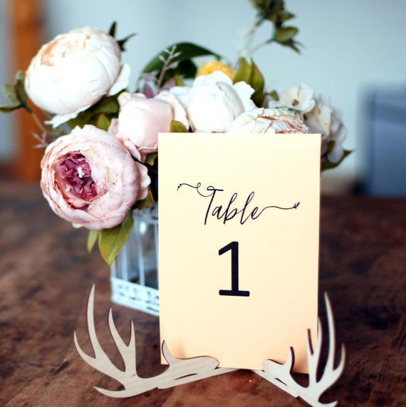 Tabelle Anzahl Halter mit Geweih Hochzeit Menükarten-Halter | Etsy