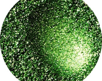 Green Foiled Pigment with Gold Iridescence Vegan Eyeshadow Pigment Loose or Pressed - Covet Chrome Addict Pigment