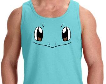 7cf37b3b Squirtle Face Cosply Pokemon Go Parody Unisex / Mens Tank Top * Sizes XS -  3XL * Wartortle * Blastoise * Mystic * Instinct * Valor