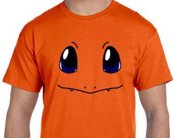 dc3c7158 Charmander Face Pokemon Go Cosplay Parody T-Shirt * Sizes 2T - 6XL* Ladies  Sizes * Charmeleon * Charizard * Mystic * Valor * Instinct