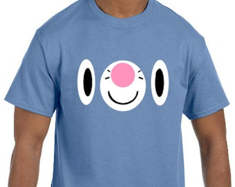 Popplio Face Pokemon Go Cosplay Parody T-Shirt * Sizes YXS - 5XL* Ladies Sizes  * Sun and Moon Starter * Mystic * Valor * Instinct