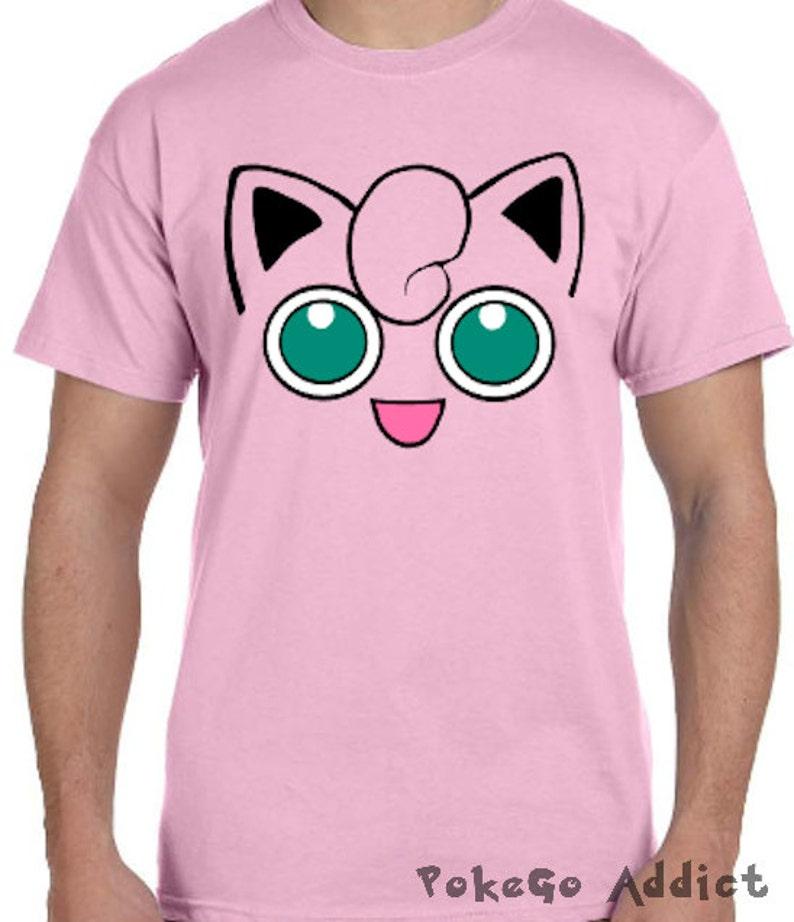 110af4da Jigglypuff Face Pokemon Go Cosplay Parody T-Shirt Sizes 2T | Etsy