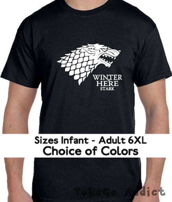 Winter is here Herren T-Shirt Game of Thrones GoT Stark Winter is coming