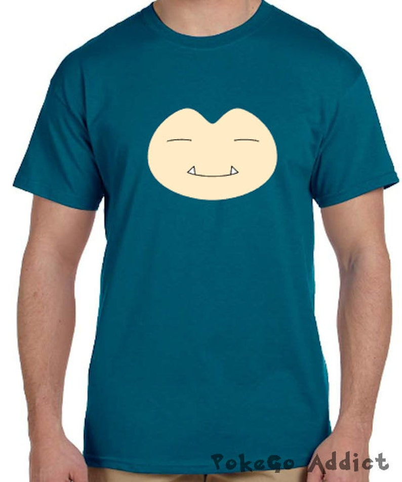 da1d7979 Snorlax Face Pokemon Go Cosplay Parody T-Shirt Sizes Youth | Etsy