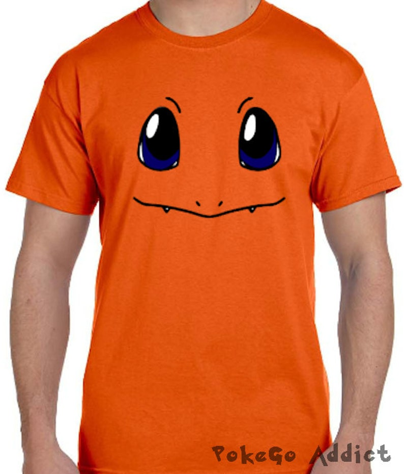 ed34ab7c Charmander Face Pokemon Go Cosplay Parody T-Shirt Sizes 2T   Etsy