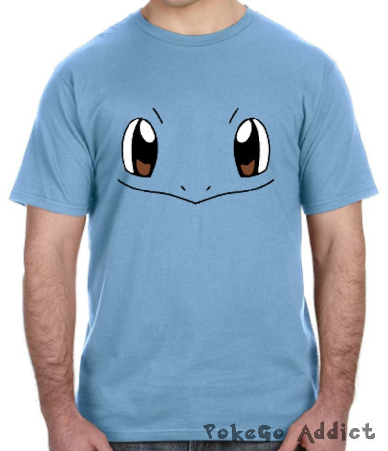 dc95d611 Squirtle Face Pokemon Go Cosplay Parody T-Shirt Sizes 2T | Etsy