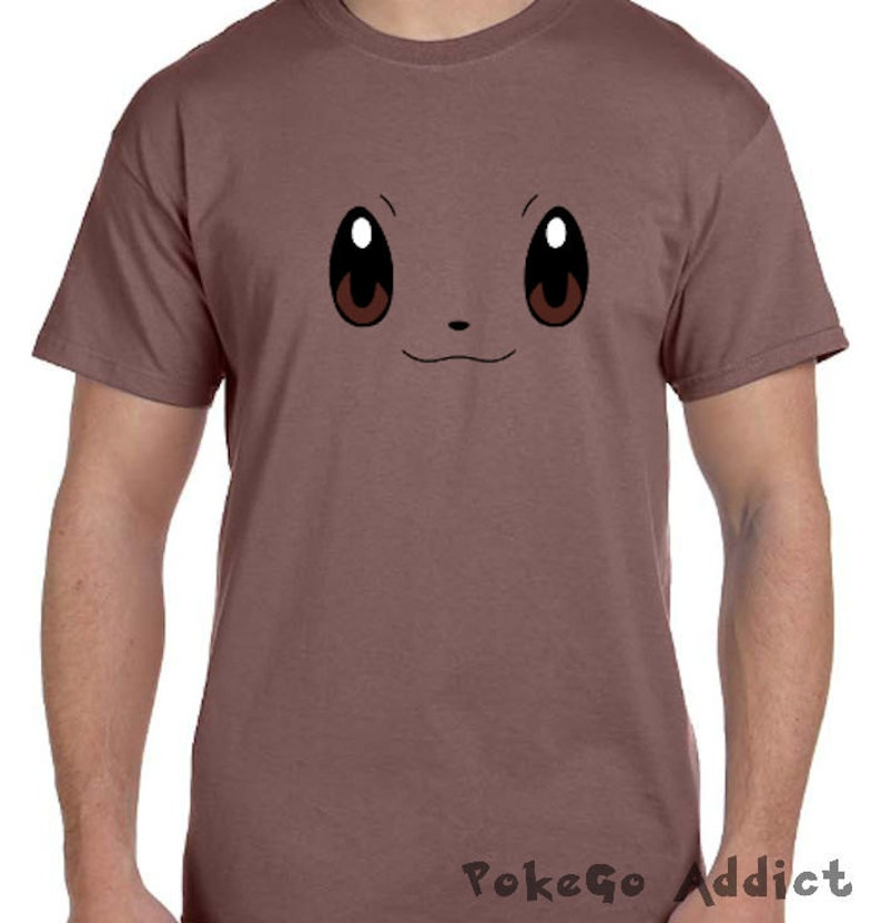 ec9f3595 Evee Face Pokemon Go Cosplay Parody T-Shirt Sizes Adult | Etsy