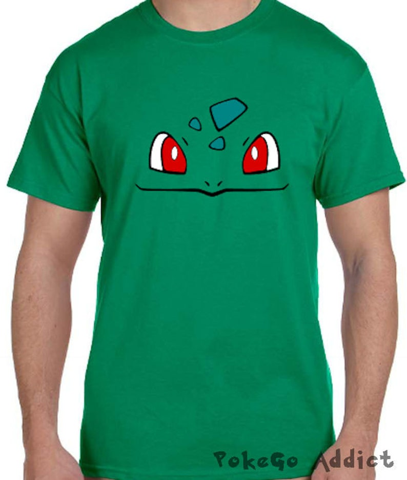 21c683ec Bulbasaur Face Pokemon Go Cosplay Parody T-Shirt Sizes 2T | Etsy