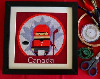 Funny Canada cross stitch pattern modern