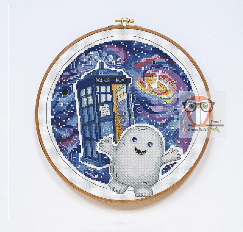 69691ed4cc4 DOCTOR WHO cross stitch ADIPOSE pattern modern counted cross