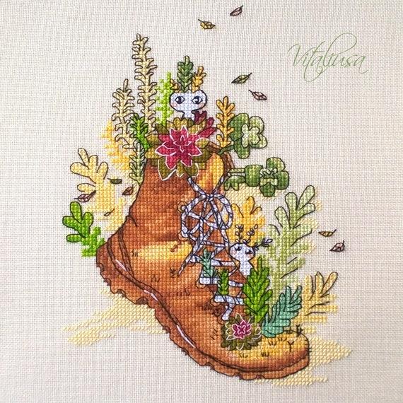 Lily Moods Chart Counted Cross Stitch Pattern Needlework Xstitch Craft Pink