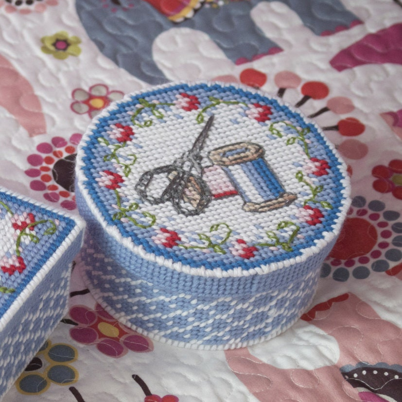 Plastic Canvas Tissue Box Patterns Free Embroidery Scissors Etsy
