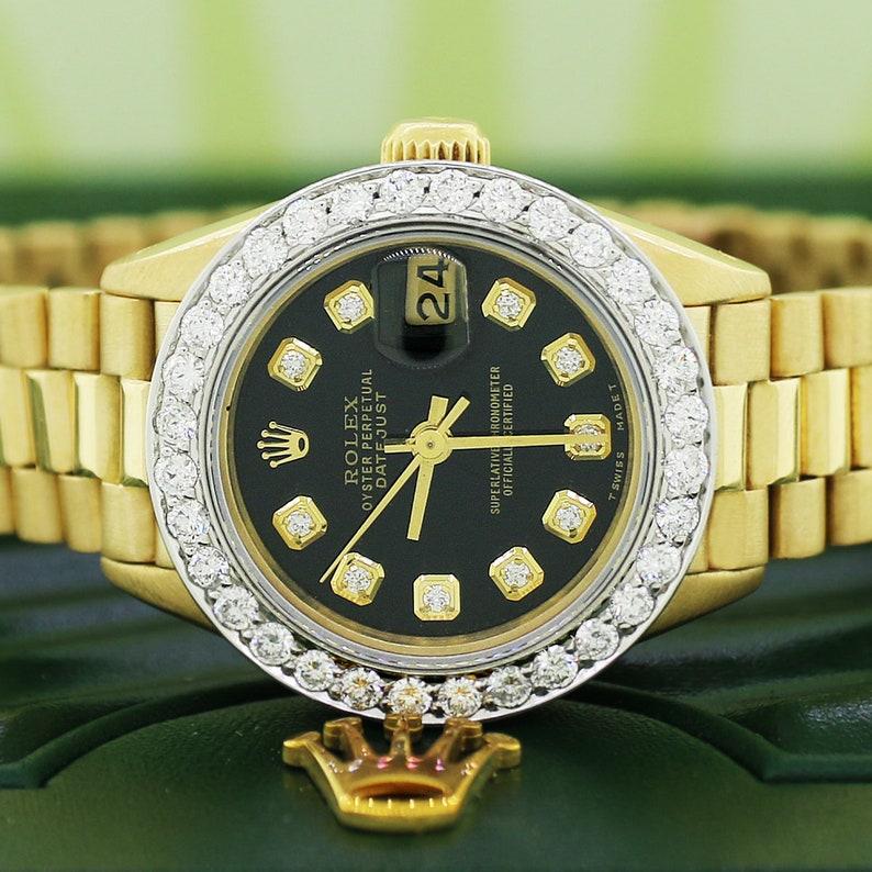 6318f326ea2 Le Président de Rolex Datejust dames 18K or jaune 26 MM Watch