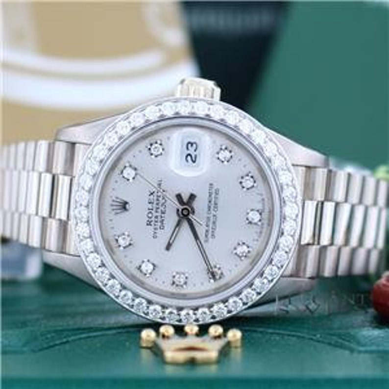 42359ef2cba Mesdames Rolex Datejust cadran avec diamant personnalisé