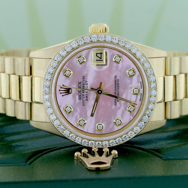 8bdb287272a Rolex Président Datejust taille moyenne 31 or MM montre w Pink