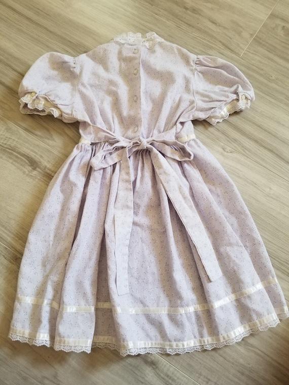 Vintage girls Gunne Sax purple floral dress, prin… - image 5