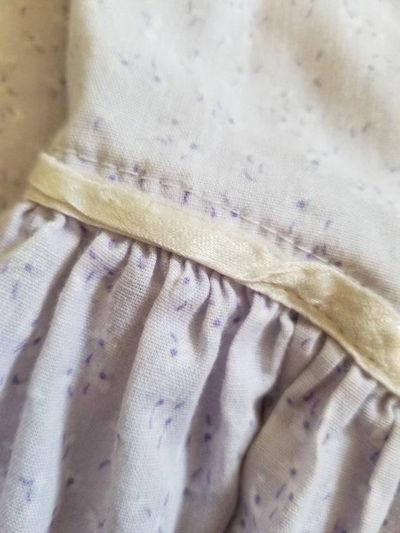 Vintage girls Gunne Sax purple floral dress, prin… - image 8