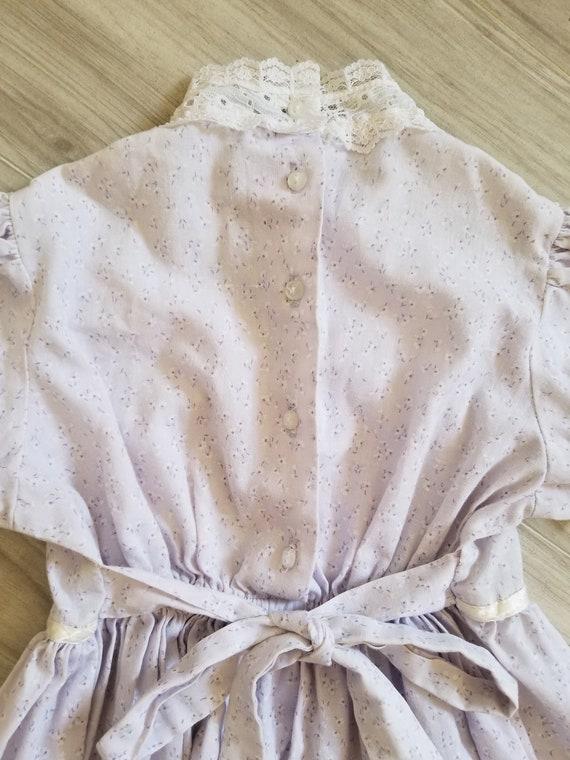 Vintage girls Gunne Sax purple floral dress, prin… - image 6