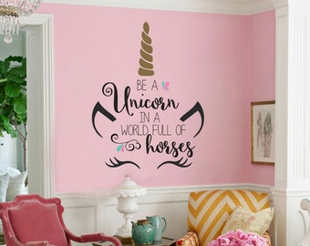 Unicorn Only Vinyl Wall Decal Unicorn Party Decor Unicorn Etsy
