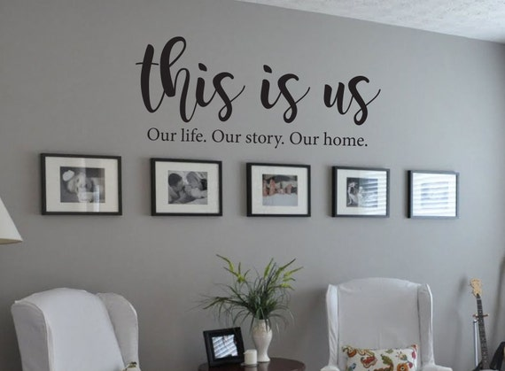 12 This Is Us Wall Decal Our Life Our Story Our Home Removable Vinyl Decor For Sale Online