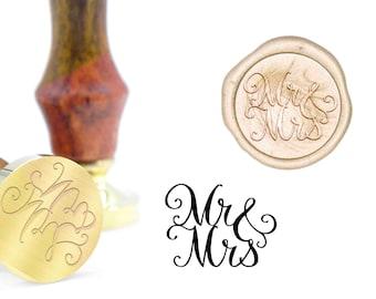 Wedding Invitation Mr and Mrs Logo Wax Seal Stamp Kit B233