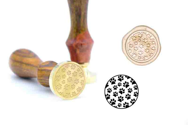 dogs footprints pattern wax seal stamp B28