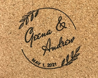 Custom Stamp for  Mexican Tile Coasters Wedding Favors