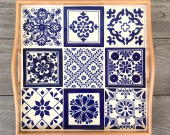 Mexican Tile Decorative Tray