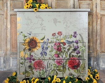 Antique Hope Chest. Vintage Blanket Chest. Painted Mule Chest. Boho Farmhouse Chest of Drawers. Bedroom Chest. Floral Blanket Storage.