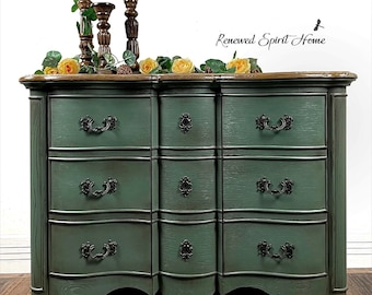 French Country Buffet. Serpentine Sideboard. French Farmhouse Credenza. Dining Room Server. Media Console. Entryway Cabinet.