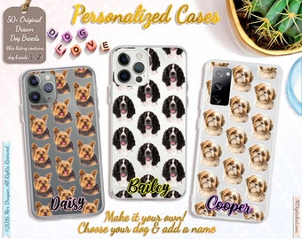 Customized Dog Breed Pattern On iPhone Case 7 8 X XS XR XS 11 12, Samsung S10 S20 S21, Make It Your Own Dog Case, S-Z Breed List #ICPLPP03