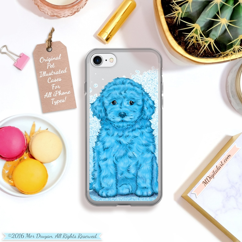 Adorable Toy Poodle Colorful Designed Case For iPhone 6s 6 7 8 image 0