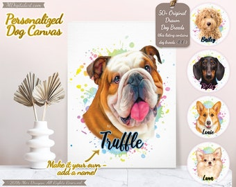 Custom Your Dog Breed Portrait On Canvas, Make It Your Own Dog Canvas, Personalized Dog Lover Gift, Pet Loss Gift, A-E Breed List #PCPY01