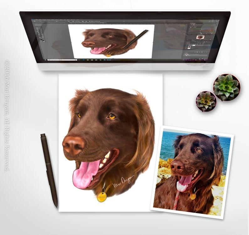 Realistic Custom Pet Portrait Handmade Pet Loss Gift image 0