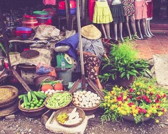 Kitchen Wall Art Print, Asian Decor, Frameless Print, Gift Chef, Kitchen Decor, Food Market, Asian Far East Culture, Food Photo, Vietnam Art