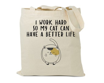 Sorry I Can/'t I Have Plans With My Cat Tote Bag Funny Cute Crazy Cat Lady Gift Present Carrier For Life