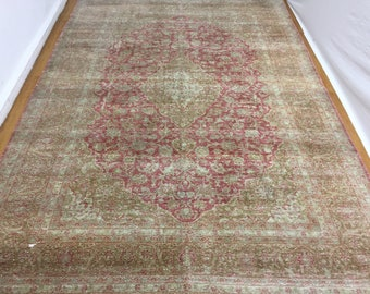 Vintage Rug 49x80 Inches Brown Carpet Organic Floor Carpet Outdoor Rug Home Decor Rug Indoor Rugs 1357 Area Rug Turkish Rug