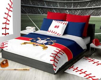 more colors personalized baseball bedding - Baseball Bedding
