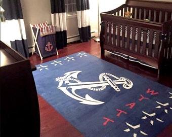 Nautical Nursery Rug Etsy