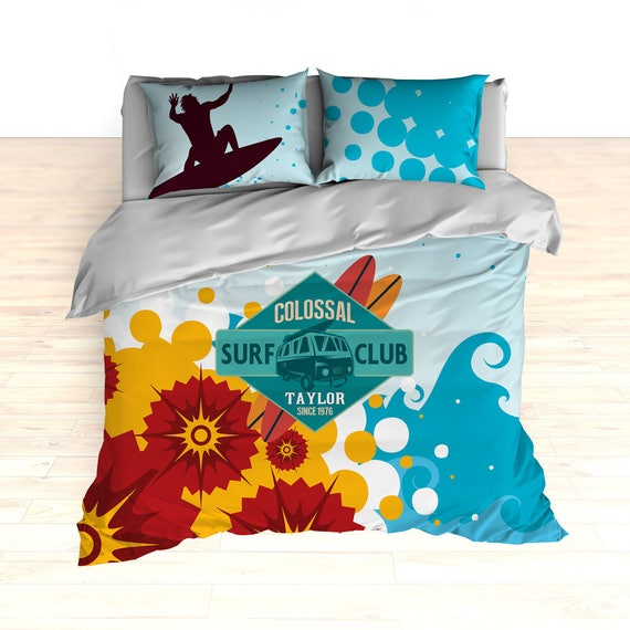 Personalized Surf Bedding Colossal, Surf Bedding Queen