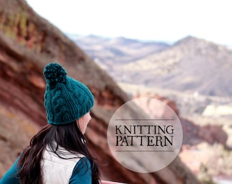 PATTERN: Easy Cable Knit Hat Pattern by The Granville Stitchery
