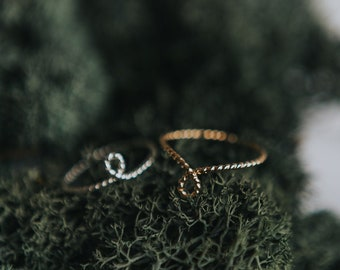 Twisted Knot Ring/ Twist Ring/ Knot Ring/ Dainty Ring/ Stacking Ring/ Everyday Ring/ Gifts for her