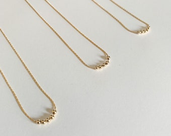 Gold Fidget Necklace/ Gold Necklace/ Gold Bead Necklace/ Layering Necklace/ Fidget Jewelry/ Anxiety Necklace/ Playful Necklace