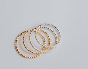 Twist Ring/ Twisted Ring/ Stacking Ring/ Dainty Ring/ Gold Ring/ Silver Ring/ Gifts for her