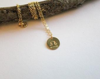 Zodiac Necklace, Horoscope Necklace, Zodiac Jewelry, Horoscope Jewelry, Stamped Jewelry, Gold Necklace, Gifts for her, Personalized Jewelry