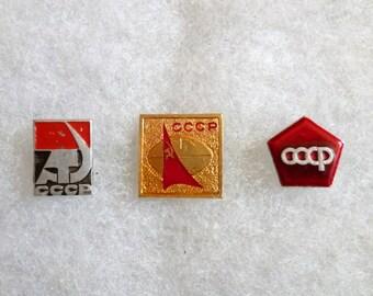 Soviet Union pins USSR pinback buttons Badges History Memorabilia Communist propaganda Collectibles historical memory Russian Russia Lapel