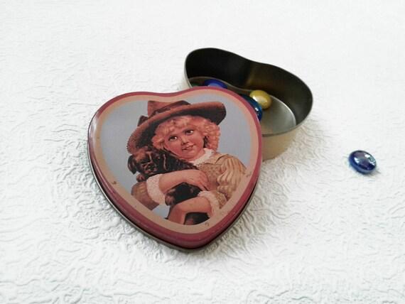 tenn made in Sweden small tin box Tin box jewelry svensk vara ring box vintage tin GEB earring box jewelry box Swedish box