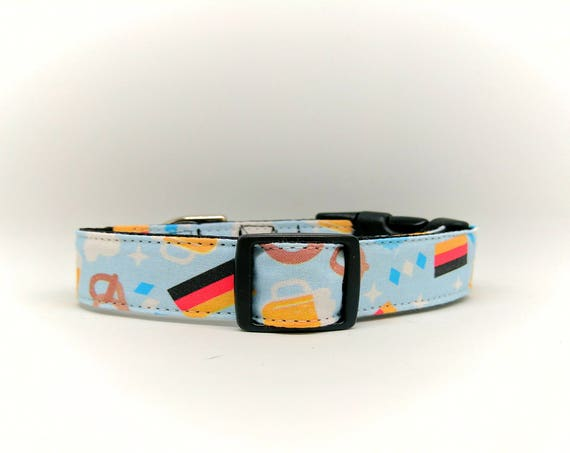 Oktoberfest Martingale Dog Collar: Volksfest, Wiesn. Adjustable and Satin lined