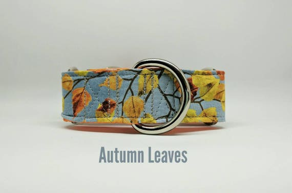 Fall Leaves Dog Collar: Martingale, Buckle, Dog Collar